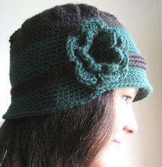 Crochet hat Hat for women Flower hat Cloche hat by reneeoriginals1, $25.00