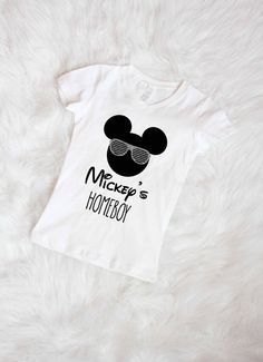 Free shipping Mickey is my homeboy tee shirt by gemmaclothingco