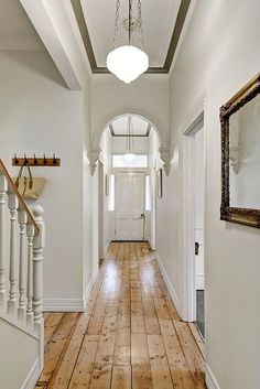 Victorian hallway lighting hallway lighting hallway ideas say it clear and simply outdoor lighting victorian house lighting ideas hallway Hallway Inspiration, Victorian Homes, House Entrance, Victorian Hallway, Hallway Flooring, Hallway Lighting, Farmhouse Flooring, House Colors, Victorian House Colors