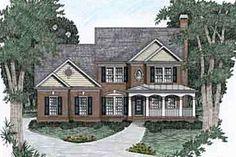 Houseplans.com Front Elevation Plan #129-107