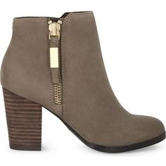 Aldo Mathia leather ankle boots ($102) ❤ liked on Polyvore featuring shoes, boots, ankle booties, gray booties, leather booties, high heel booties, grey boots and grey booties