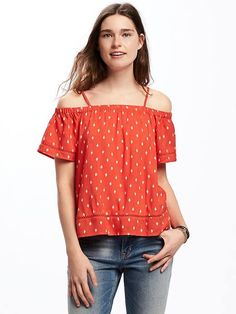 Off-the-Shoulder Swing Top for Women | Old Navy