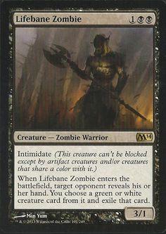 1 Lifebane Zombie Magic 2014 M14 MTG Magic The Gathering Black Rare NM