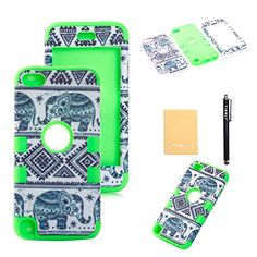 TIANLI(TM) 3 in 1 Hybrid Thailand Elephant Tribe Pattern Dirtproof Defender Case with Rubber Silicone for Apple ipod touch 5th Generation+[Screen Protector]+[Free Stylus]+[Cleaning Cloth] STDX Green TIANLI(TM) http://www.amazon.ca/dp/B00P2Q9IUA/ref=cm_sw_r_pi_dp_9X2Lub1DMDA0Z - awesome design!