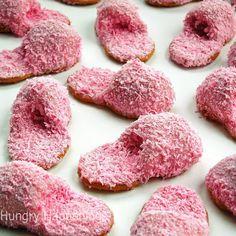 Fuzzy Slipper Cookies. So cute, and perfect for your next Pure Romance by Sarah Matthews slumber party! www.facebook.com/prbysarahmatthews www.pureromance.com/sarahamatthews