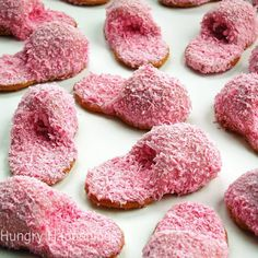 Check out this cookie recipe to make the most adorable pink fuzzy slippers out of Nutter Butters.