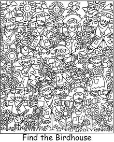 Welcome to Dover Publications Colouring Pages, Adult Coloring Pages, Coloring Books, Colouring Sheets, Find The Hidden Objects, Hidden Picture Puzzles, Can You Find It, Hidden Pictures, Hidden Images