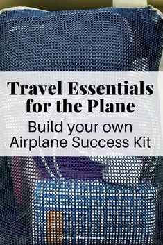 Pack travel essentials for the plane in an organized and easy to handle bag, and you'll save time and stress on every flight. #travel #tripideas #packing #organizing #traveltips