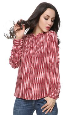 Specifications: Decoration:Button Clothing Length:Regular Pattern Type:Print Sleeve Style:Regular Fabric Type:Woven Material:Cotton Collar:Stand Sleeve Length:Full Size Bust Shoulder Sleeve Length S 3