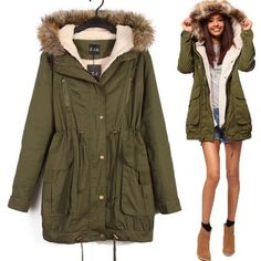 Wow! Casual Hooded Drawstring Long Fur Coats only $55.99 from ByGoods.com! I like it so much!!