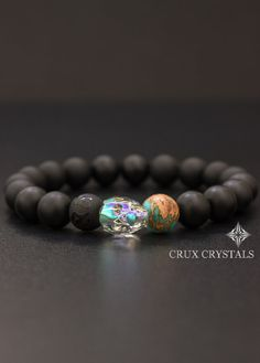 Herren Swarovski Crystal Skull Armband Crux von CruxCrystals