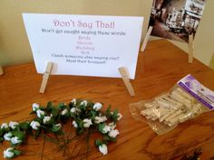 Don't Say That! Fun Bridal Shower Game!