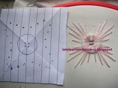 Let's learn embroidery: Button kamal kadai Embroidery Stitches Tutorial, Embroidery Patterns Free, Learn Embroidery, Hand Embroidery Designs, Embroidery Techniques, Ribbon Embroidery, Cross Stitch Embroidery, Sewing Patterns, Sewing Art