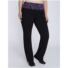 Lane Bryant Plus Size Printed waistband yoga pant ($45) ❤ liked on Polyvore featuring activewear, activewear pants, plus size, printed waistband, womens plus size activewear, lane bryant, plus size activewear, plus size activewear pants and plus size sportswear
