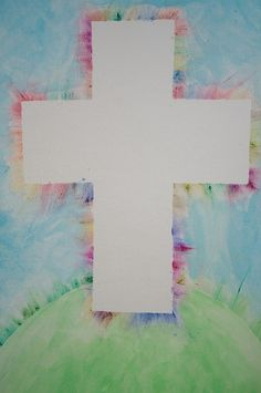 "Cross ""painting"" for kids (seen by @L a Farme / Anne Harrington Rosengarten )"