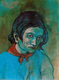 Female Head, 1902 by Pablo Picasso, Blue Period. Picasso Art, Picasso Paintings, Georges Braque, Picasso Blue Period, Cubist Portraits, Art Plastique, Famous Artists, Canvas, Painting & Drawing