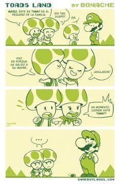 Otros - Super Mario y los Toads,una relación extraña