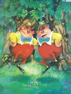 Tweedle-Dee and Tweedle-Dum ~ Alice in Wonderland, 1951 Alice In Wonderland 1951, Adventures In Wonderland, Wonderland Party, Lewis Carroll, Disney Films, Disney Art, Tweedle Dee Tweedle Dum, Disney Magazine, Disney Wallpaper