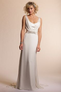 Amy Kuschel wedding dress with straps, 2013
