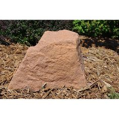 Artificial rocks covers on pinterest septic tank for Landscape rock utility cover