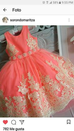 African Dresses For Kids, Latest African Fashion Dresses, Little Dresses, Little Girl Dresses, Girls Dresses, Kids Frocks Design, Dress Anak, Baby Dress Patterns, Baby Gown
