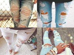 DIY distressed jeans....only because I don't own a pair, don't want to buy one, but want to wear lace tights under them..