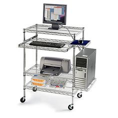 """RELIUS SOLUTIONS Mobile Wire Computer Workstation - 30x18x32"""""""