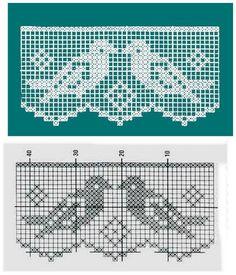 Crochet Ideas - Crochet Ideas At Your Fingertips! Crochet Boarders, Crochet Lace Edging, Crochet Doilies, Easy Crochet, Crochet Squares, Crochet Birds, Thread Crochet, Crochet Stitches, Crochet Toys