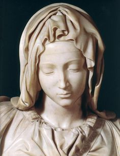 Michelangelo Buonarroti >> Piedad  A true gift to be able to make such a hard substance (marble) look so soft.