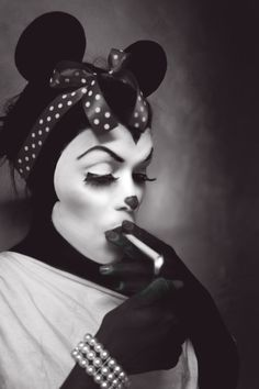 Minnie smoking