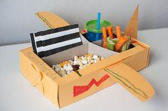 Like this cute airplane snack box