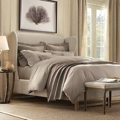 French Wing Upholstered Bed from Restoration Hardware!  $700 (on sale)