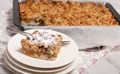 Appelkruimelkoek van het bakblik Apple Pie Cake, Apple Crumble Pie, Beignets, Cheesecake, No Bake Brownies, Bread Cake, Breakfast Dessert, Sweet Cakes, Apple Recipes