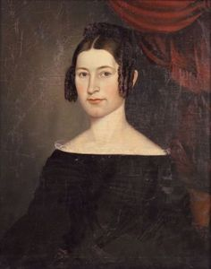 Stock (American, 1815-1855) Portrait of a Young Woman in Black