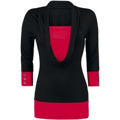 Longsleeve in layer-look with extra low cutout.