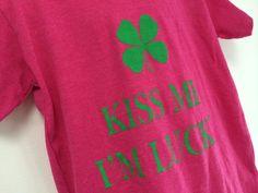 Kiss Me I'm Lucky Youth Shirt