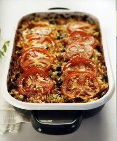Πιλάφι αλά γεμιστά. Just the stuffing, because some don't like the mushy tomatoes or peppers