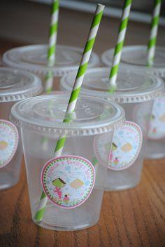 12 tazas de fiesta spa con tapas y Cañitas por mlf465 en Etsy