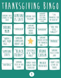Thanksgiving Bingo For Your Functionally Dysfunctional Family (via BuzzFeed)