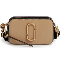 Main Image - MARC JACOBS Snapshot Leather Crossbody Bag