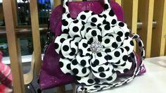 Cute purple and zebra purse