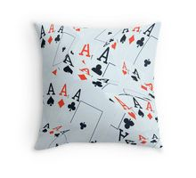 Poker, Quad Aces, In A Layered Pattern Throw Pillow