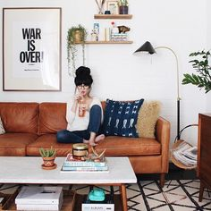 boho mid-century home - @newdarlings on instagram