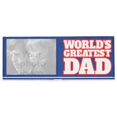 World's Greatest Dad add your own photo blue wallet Tyvek Billfold Wallet. A great personalized gift for Dad. Designed by www.sarahtrett.com