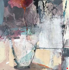 "Joan Fullerton Paintings: Still Life, Flower Painting,Contemporary Abstract Art Painting, ""Growing Passion"" by Intuitive Artist Joan Fullerton Contemporary Abstract Art, Abstract Landscape, Modern Art, Abstract Paintings, Hanging Art, Abstract Expressionism, Pop Art, Artwork, Life Flower"