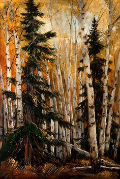 David Langevin ~ Brenda's Other Dragon Trees Watercolor Landscape, Landscape Paintings, Watercolor Paintings, Landscapes, Painting Trees, Tree Paintings, Landscape Art, Canadian Painters, Canadian Artists