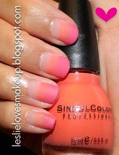 Ombre/gradient nails <3