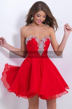 2015 Cute Sweetheart Short/Mini A Line/Princess Homecoming Dress Chiffon Beaded And Ruffled - Homecoming Dresses - shop dresses$