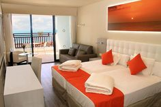 Almost all 488 comfortable guest rooms have stunning sea views from their terraces. #Lanzarote www.sandos.com