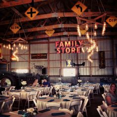 My Cousins Storage Garage Wedding Reception So Creative